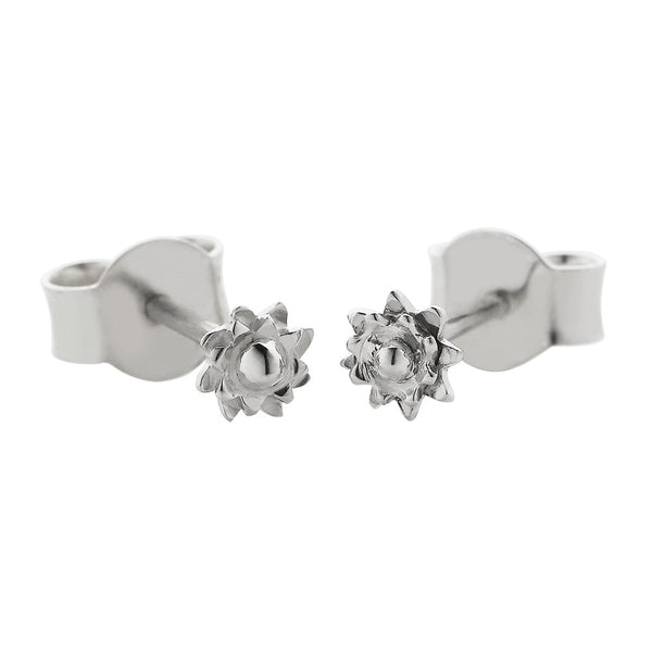 Meadowlark Protea Micro Studs - Sterling Silver - Walker & Hall