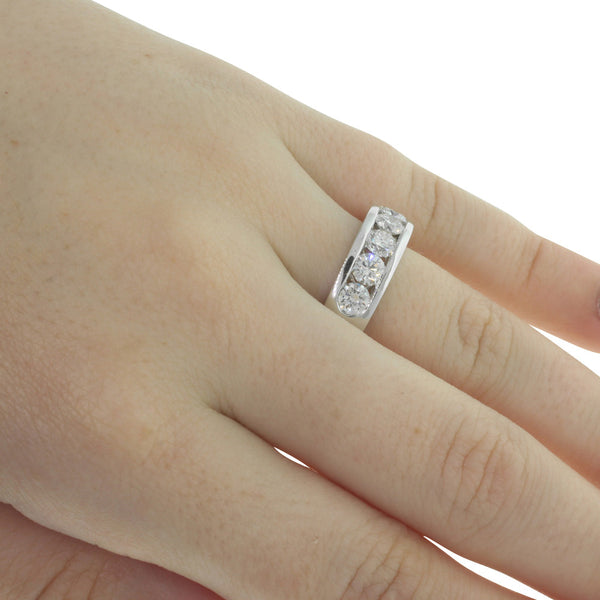 18ct White Gold 1.21ct Diamond Loire Ring - Walker & Hall