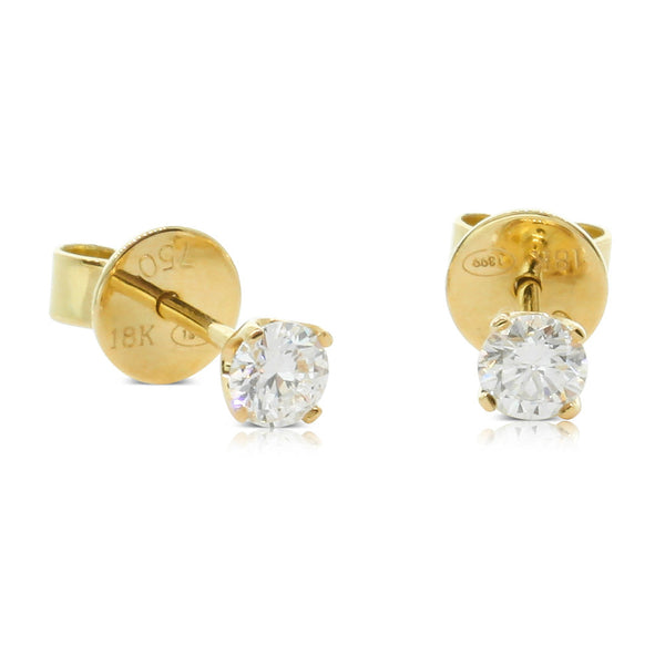 18ct Yellow Gold .46ct Diamond Blossom Earrings