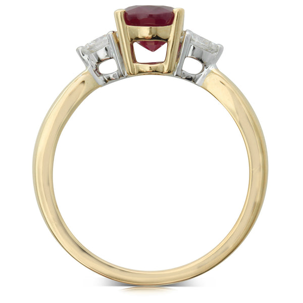 18ct Yellow Gold Ruby And Diamond Ring - Walker & Hall