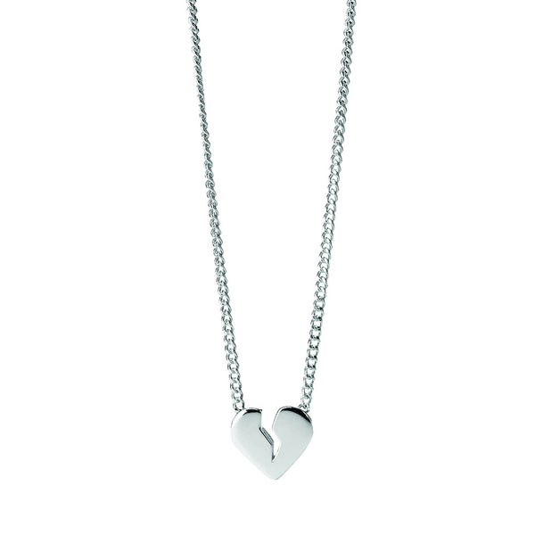 Karen Walker Broken Heart Necklace - Sterling Silver