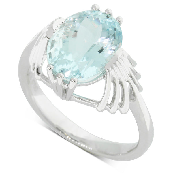 18ct White Gold Aquamarine Cocktail Ring - Walker & Hall