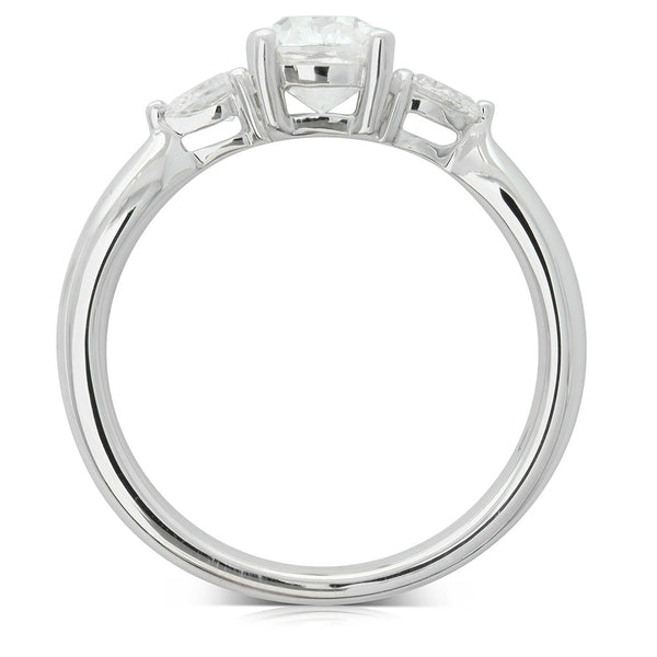 18ct White Gold 1.02ct Cushion Cut Diamond Ring - Walker & Hall