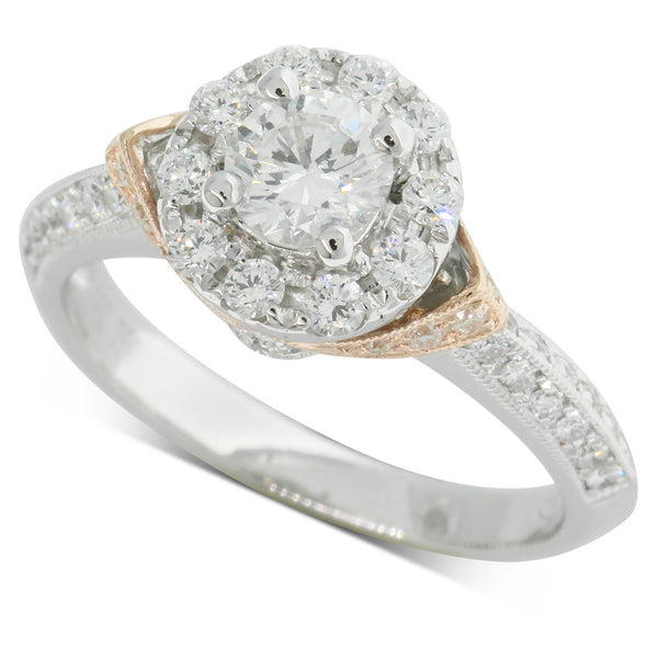 18ct White Gold & Rose Gold .50ct Diamond Ring - Walker & Hall
