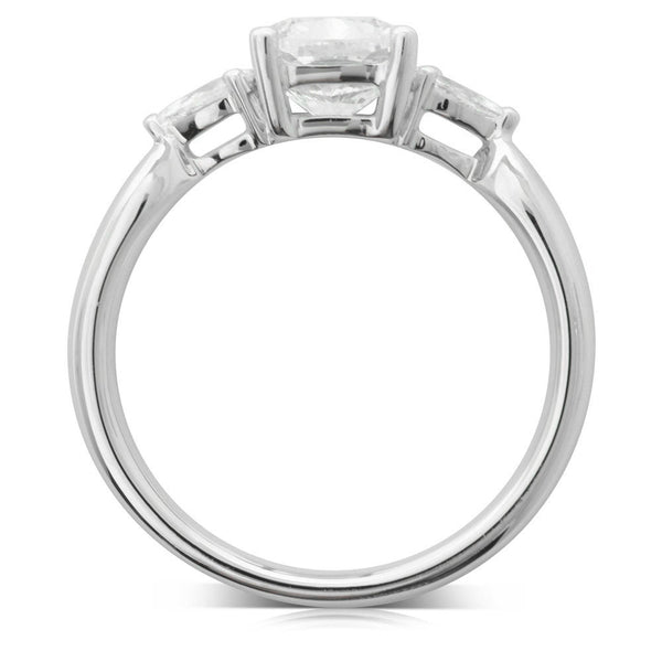 18ct White Gold Cushion Cut Diamond Ring - Walker & Hall