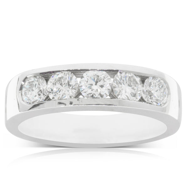 18ct White Gold 1.16ct Diamond Loire Ring - Walker & Hall