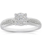 9ct White Gold .25ct Diamond Vanguard Ring - Walker & Hall