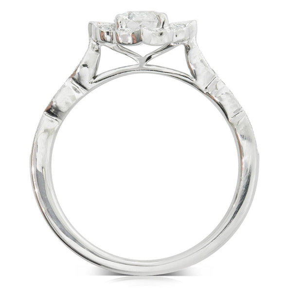 18ct White Gold .50ct Diamond Paramount Ring - Walker & Hall