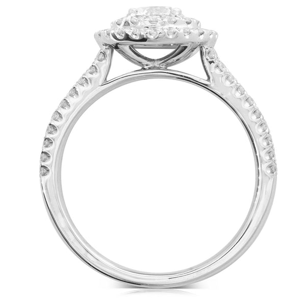 18ct White Gold .50ct Diamond Altura Ring - Walker & Hall