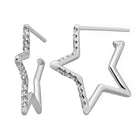 Karen Walker Diamond Star Outline Earrings - 9ct White Gold - Walker & Hall