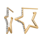 Karen Walker Diamond Star Outline Earrings - 9ct Yellow Gold - Walker & Hall