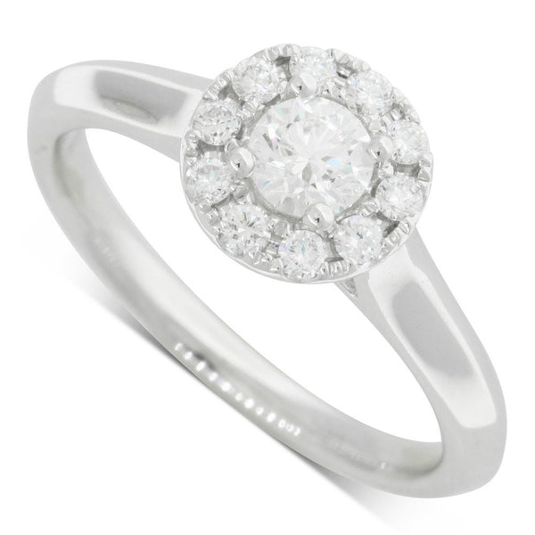 18ct White Gold .30ct Diamond Eclipse Ring - Walker & Hall