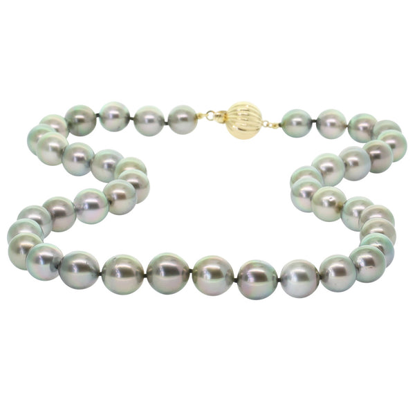 Tahitian Black Pearl Necklace With 9ct Yellow Gold Clasp - Walker & Hall