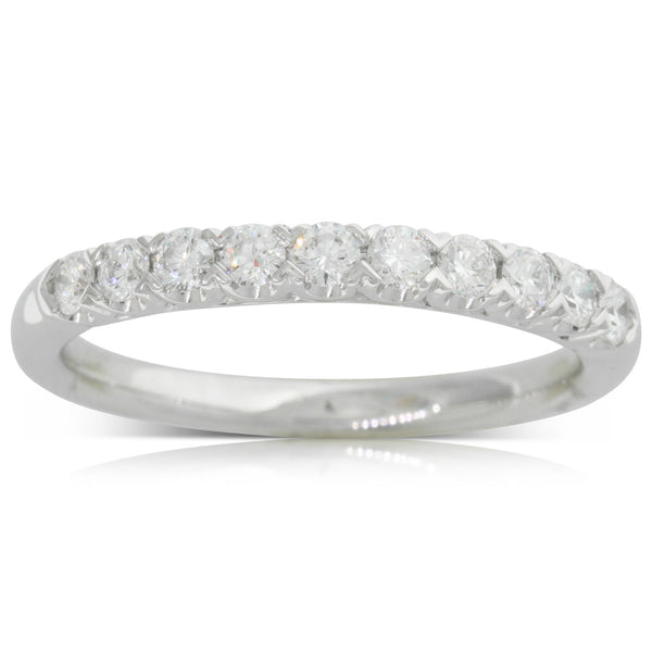18ct White Gold .38ct Diamond Band