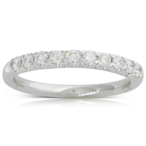 18ct White Gold .38ct Diamond Band - Walker & Hall