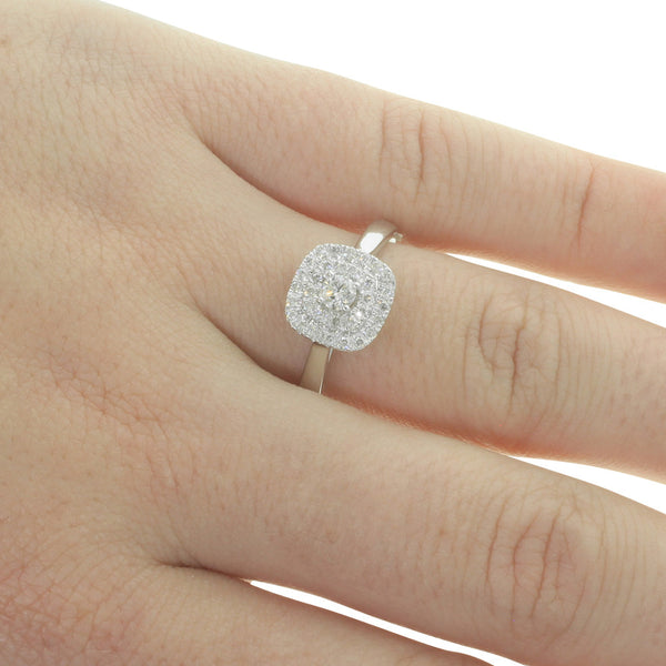 9ct White Gold Diamond Avignon Ring - Walker & Hall