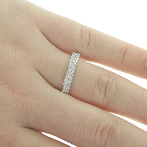 9ct White Gold .30ct Diamond Lumiere Band - Walker & Hall