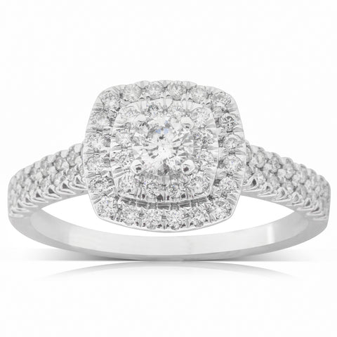 9ct White Gold .70ct Diamond Lumiere Ring - Walker & Hall