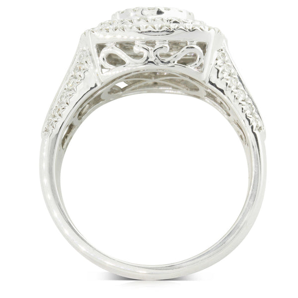 9ct White Gold 1.00ct Diamond Rio Ring - Walker & Hall