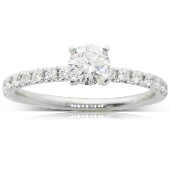 18ct White Gold .51ct Diamond Comet Ring - Walker & Hall