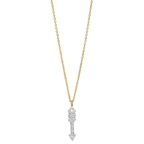 9ct Yellow Gold Diamond Cupido Of Amor Necklace - Walker & Hall