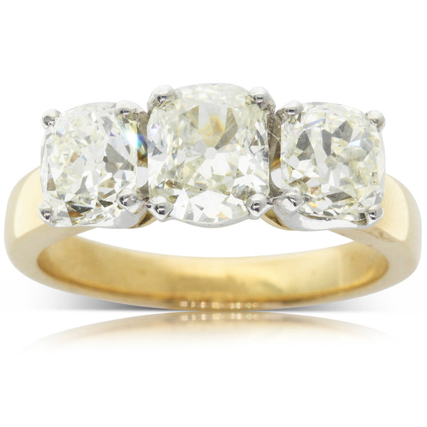 18ct Yellow Gold Diamond Three Stone Ring - Walker & Hall