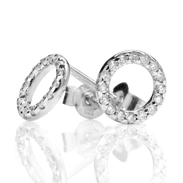 Karen Walker Orbit Diamond Earrings - 9ct White Gold - Walker & Hall