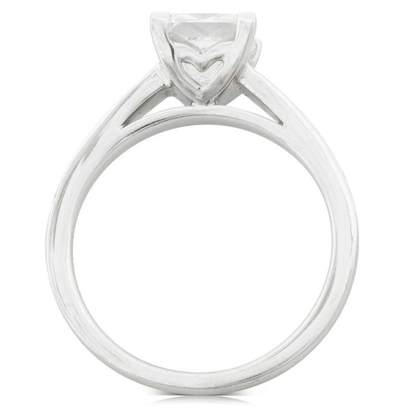 18ct White Gold 1.52ct Diamond Vantage Ring - Walker & Hall