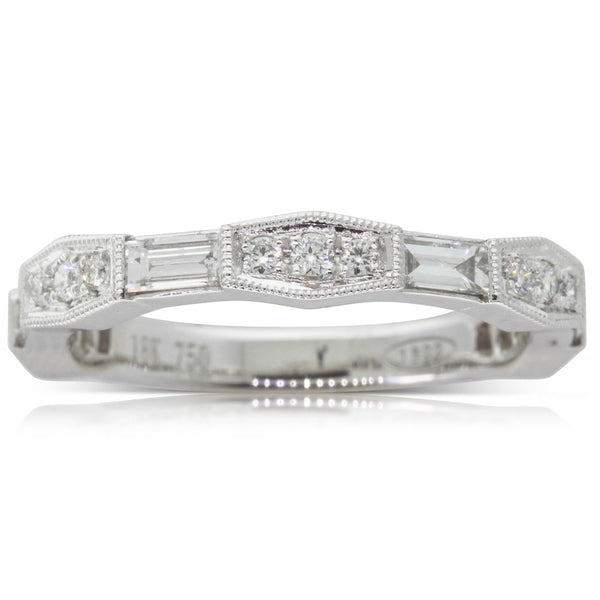 18ct White Gold .58ct Diamond Ring - Walker & Hall