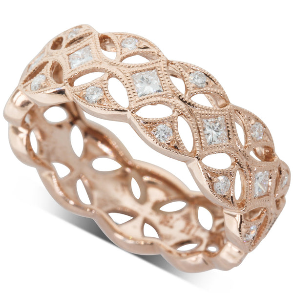 18ct Rose Gold .48ct Diamond Ring - Walker & Hall