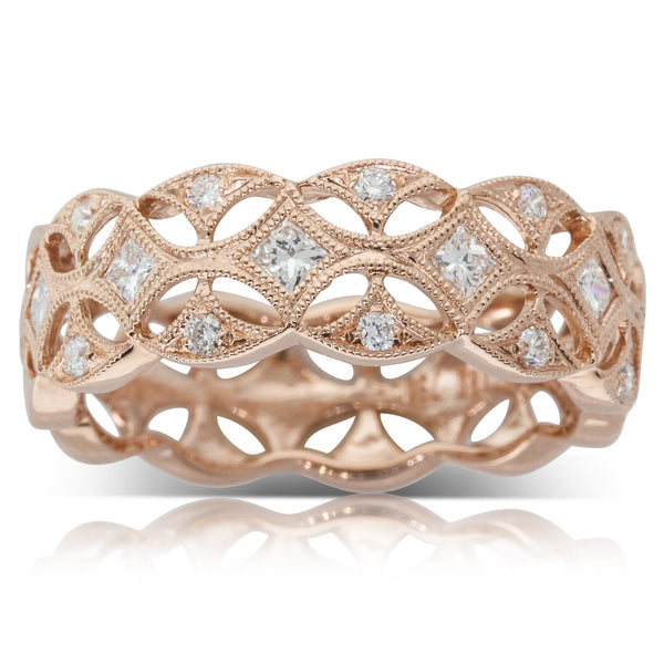 18ct Rose Gold Diamond Ring - Walker & Hall