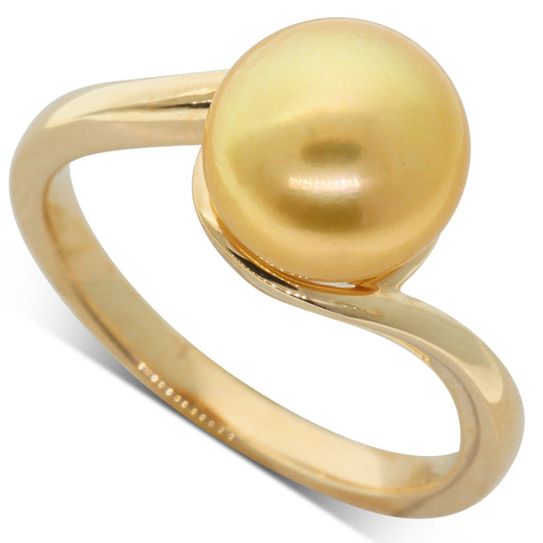 18ct Yellow Gold Cultured South Sea Pearl Ring