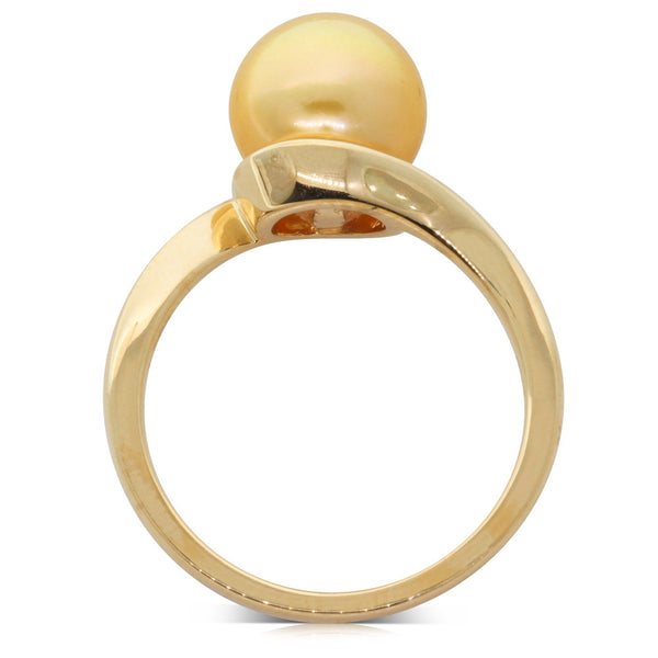 18ct Yellow Gold Cultured South Sea Pearl Ring - Walker & Hall