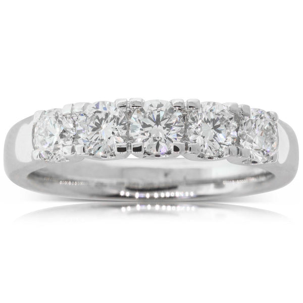 18ct White Gold 1.06ct Diamond Ring - Walker & Hall