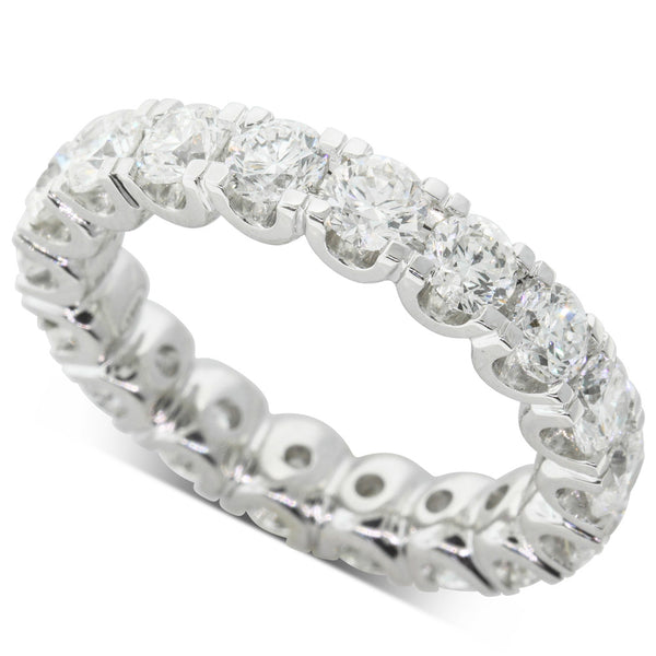 18ct White Gold 3.30ct Diamond Eternity Ring - Walker & Hall