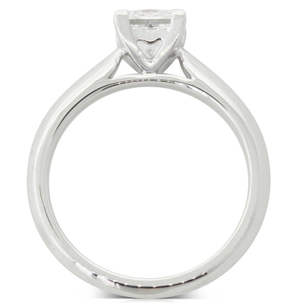 18ct White Gold 1.02ct Diamond Venetian Ring - Walker & Hall