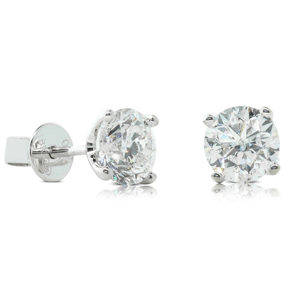 18ct White Gold 2.00ct Diamond Blossom Studs - Walker & Hall