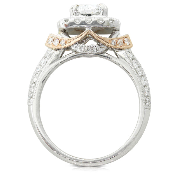 18ct White & Rose Gold 1.20ct Diamond Ring - Walker & Hall