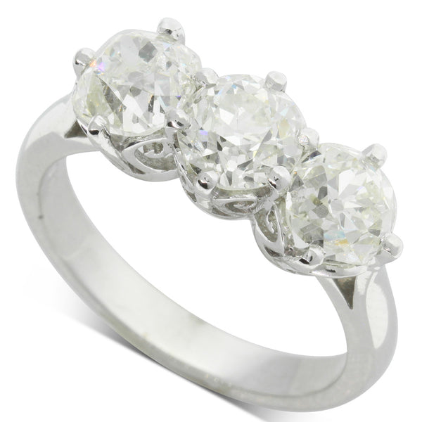 18ct White Gold 3.03ct Diamond Coronado Ring - Walker & Hall
