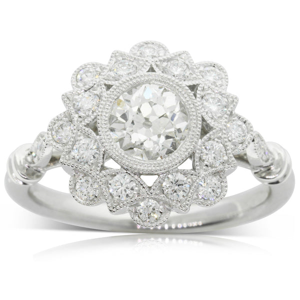 18ct White Gold .90ct Diamond Mayfair Ring