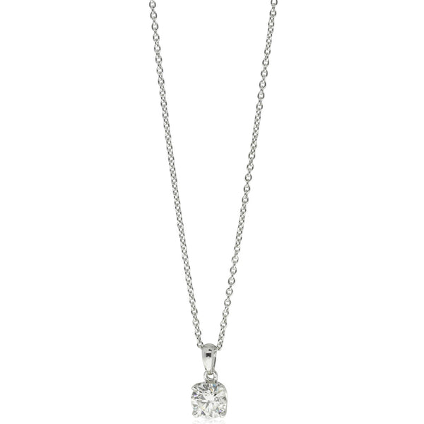 18ct White Gold .70ct Diamond Blossom Necklace - Walker & Hall