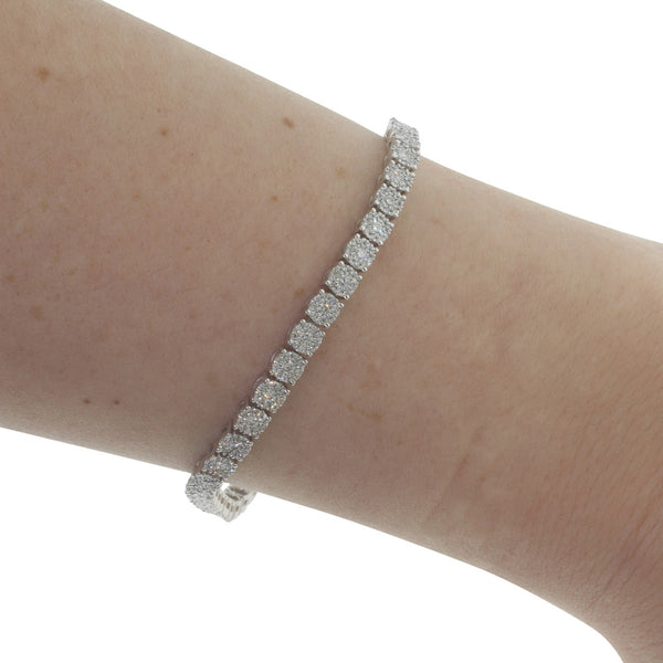 9ct White Gold 2.00ct Diamond Galaxy Bracelet