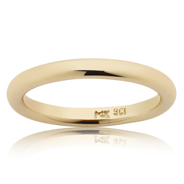 Meadowlark 2.5mm Halo Band - 9ct Yellow Gold - Walker & Hall
