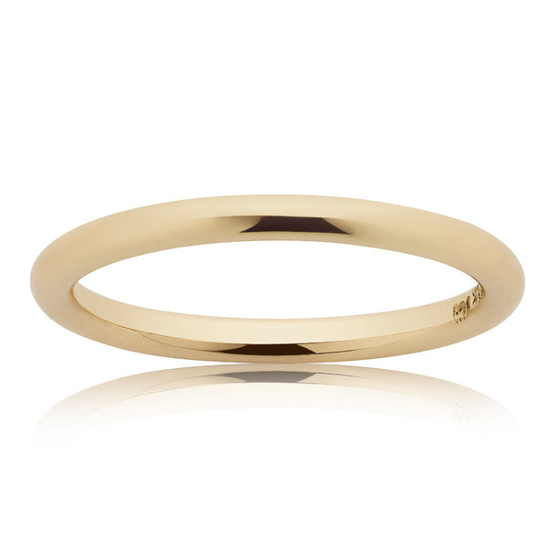 Meadowlark 2mm Halo Band - 9ct Yellow Gold
