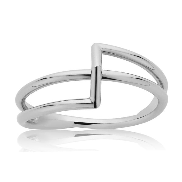 Meadowlark Bolt Ring - Sterling Silver - Walker & Hall