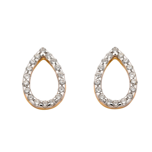 Karen Walker Diamond Capsule Earrings - 9ct Yellow Gold