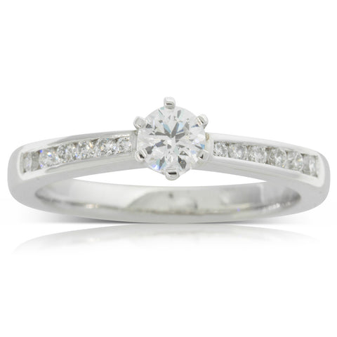 18ct White Gold .30ct Diamond Avalon Ring - Walker & Hall