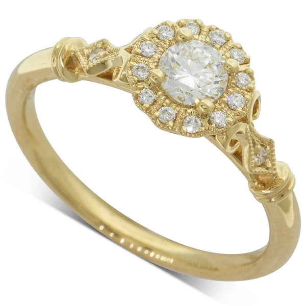 18ct Yellow Gold .35ct Diamond Versaille Ring - Walker & Hall
