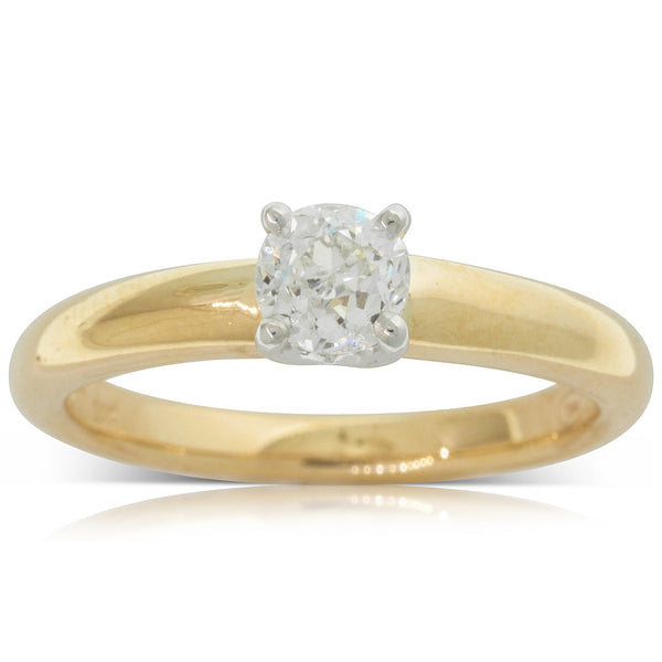 18ct Yellow Gold .55ct Diamond Tulip Ring