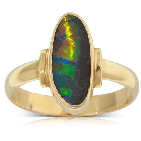 Vintage 18ct Yellow Gold Opal Ring - Walker & Hall